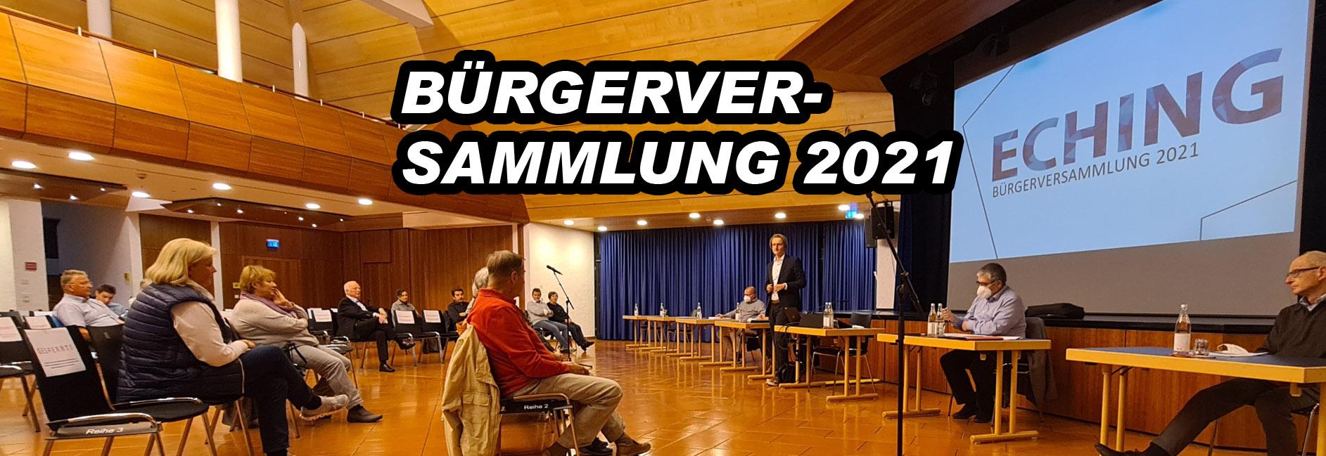 Bürgerversammlung 2021 Echinger Rundschau